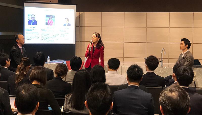 実際の研修のテーマと研修風景 森本千賀子さんの企業コミット力に学ぶ
